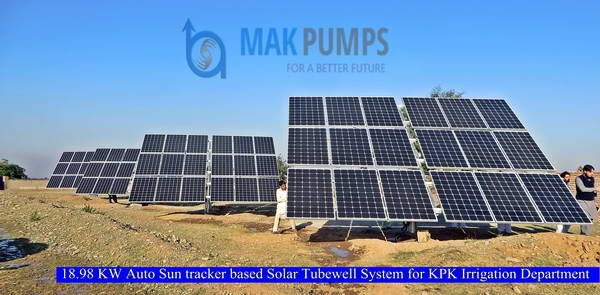 18.98 KW Auto Sun Tracker based Solar Tubewell System for KPK Irrigation Department