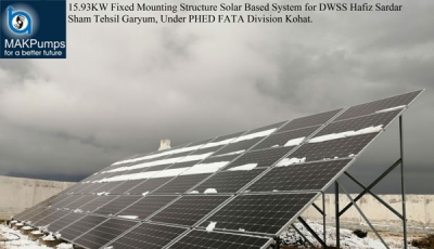 15.93KW Fixed Minting Structure Solar System for DWSS Hafiz Sardar Sham Garyam Kohat Division