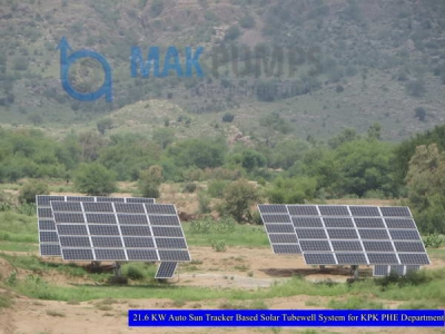 21.6 KW Auto Sun Tracker based Solar Tubewell System for KPK PHE Department