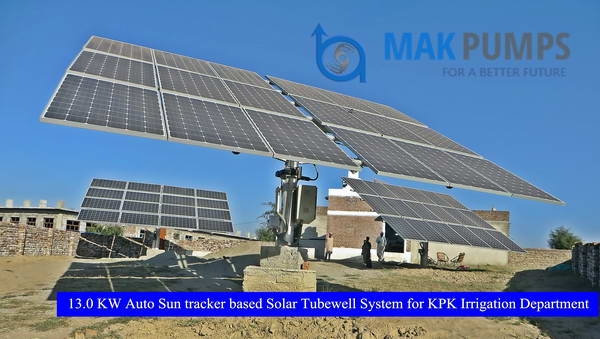 13.0 KW Auto Sun Tracker based Solar Tubewell System for KPK Irrigation Department
