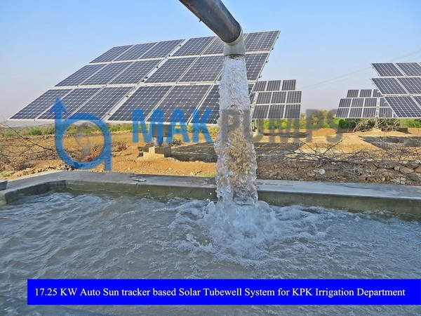 17.25 KW Auto Sun Tracker based Solar Tubewell System for Irrigation Department KPK