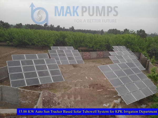 15.86 KW Auto Sun Tracker based Solar Tubewell System for KPK Irrigation Department