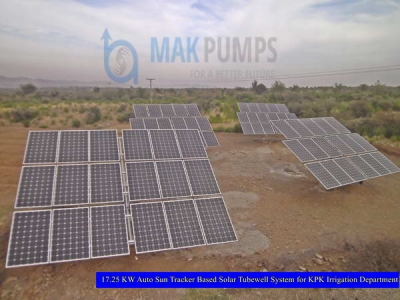 17.25 KW Auto Sun Tracker based Solar Tubewell System for KPK Irrigation Department