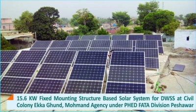15.6 KW Fixed Mounting Structure Solar System for DWSS Civil Colony Ekka Ghund, Mohmand Agency