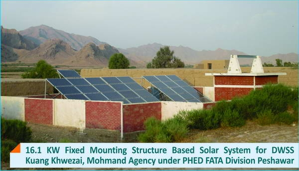 16.1 KW Fixed Mounting Structure Solar System for DWSS Mohmand Agency