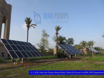 11.11 KW Auto Sun Tracker based Solar Tubewell System for KPK PHE Department
