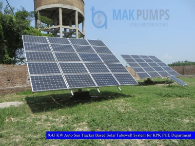 9.43 KW Auto Sun Tracker based Solar Tubewell System for KPK PHE Department