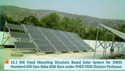 16.1 KW Fixed Mounting Structure Solar System for DWSS BQK Bara