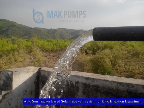 Auto Sun Tracker based Solar Tubewell System for Irrigation Department KPK