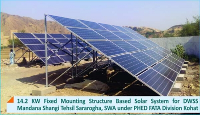 14.2 KW Fixed Mounting Structure Solar System for DWSS Mandana Shangi South Waziristan Agency