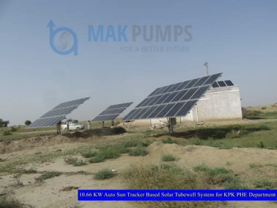 10.66 KW Auto Sun Tracker based Solar Tubewell System for KPK PHE Department