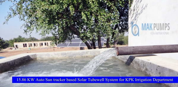 15.86 KW Auto Sun Tracker based Solar Tubewell System for Irrigation Department KPK