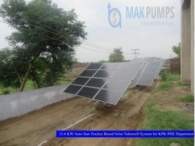 15.6 KW Auto Sun Tracker based Solar Tubewell System for KPK PHE Department