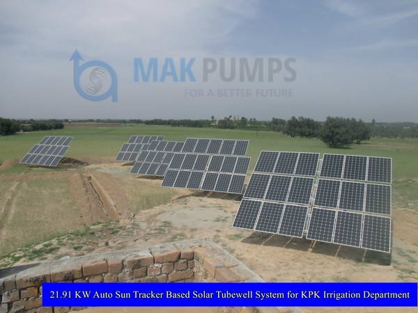 21.91 KW Auto Sun Tracker based Solar Tubewell System for KPK Irrigation Department